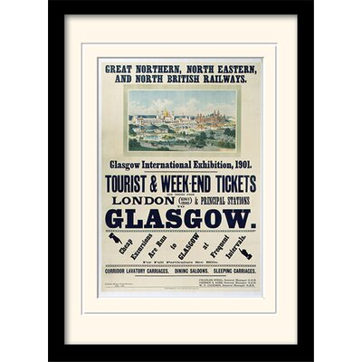 Art Group Glasgow Int Exhibition Framed Vintage Advertisement