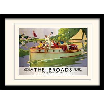 Art Group Norfolk Broads Mounted Framed Vintage Advertisement