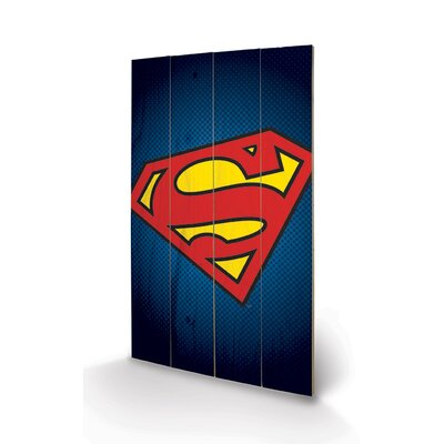 Art Group DC Comics Superman Symbol Graphic Art Plaque