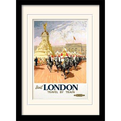 "Art Group London ""12"" Mounted Framed Vintage Advertisement"