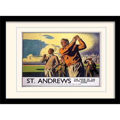 Art Group Scotland St Andrews Mounted Framed Vintage Advertisement