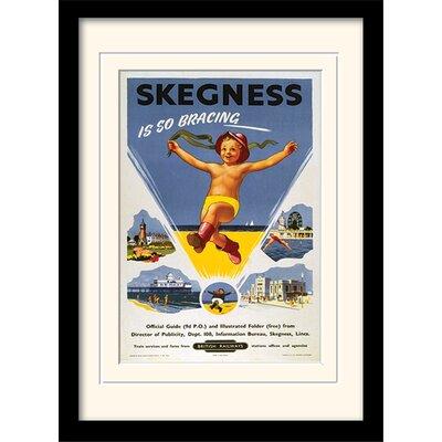 """Art Group Skegness """"1"""" Mounted Framed Vintage Advertisement"""