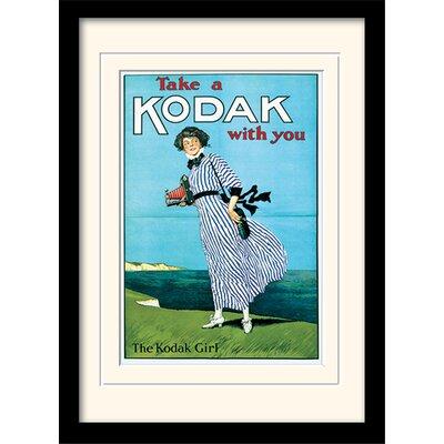 Art Group Kodak Girl Mounted & Framed Vintage Advertisement