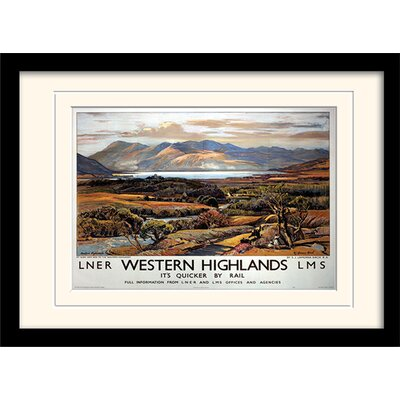 Art Group Western Highlands Framed Vintage Advertisement