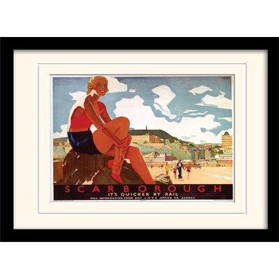 "Art Group Scarborough ""4"" Mounted Framed Vintage Advertisement"