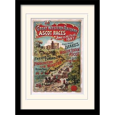 Art Group London Ascot Mounted Framed Vintage Advertisement