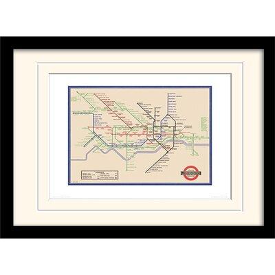 "Art Group London Transport ""7"" Mounted Framed Graphic Art"
