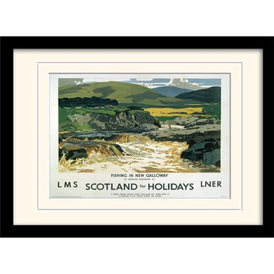 Art Group Scotland for Holidays 2 Mounted Framed Vintage Advertisement