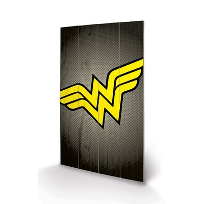 Art Group DC Comics Wonder Woman Symbol Graphic Art Plaque
