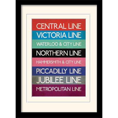 "Art Group London Transport ""9"" Mounted Framed Typography"