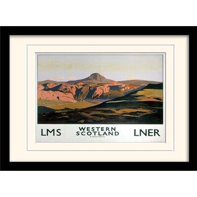 Art Group Western Scotland Framed Vintage Advertisement
