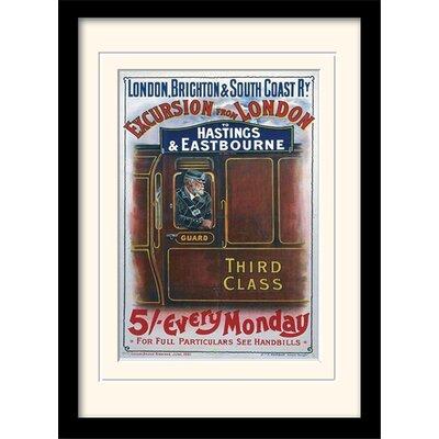 Art Group London Brighton Mounted Framed Vintage Advertisement