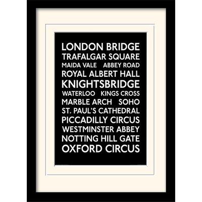 "Art Group London Transport ""10"" Mounted Framed Typography"