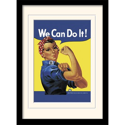 Art Group Rosie the Riveter Mounted Framed Vintage Advertisement