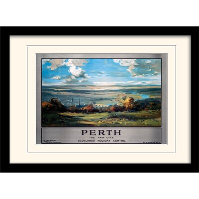 "Art Group Perth ""1"" Mounted Framed Vintage Advertisement"