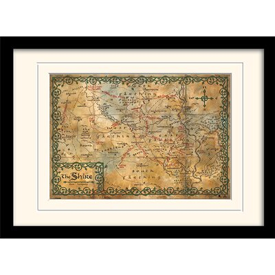 Art Group Shire Map - The Hobbit Framed Graphic Art