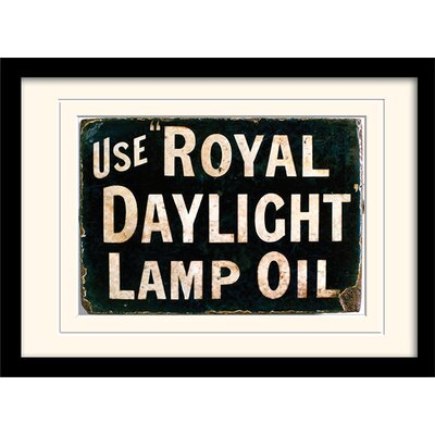 Art Group Royal Daylight Oil Mounted Framed Typography
