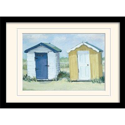 Art Group Two Beach Huts by Jane Hewlett Framed Art Print