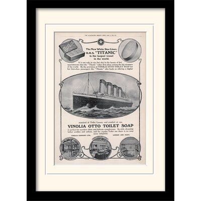 Art Group Titanic Framed Vintage Advertisement