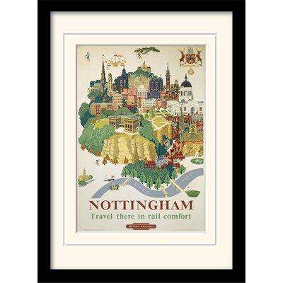 "Art Group Nottingham ""1"" Mounted Framed Vintage Advertisement"