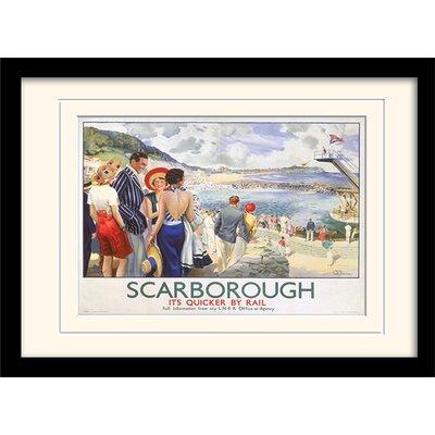 "Art Group Scarborough ""9"" Mounted Framed Vintage Advertisement"
