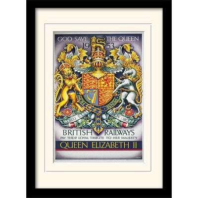 Art Group God Save the Queen Framed Vintage Advertisement
