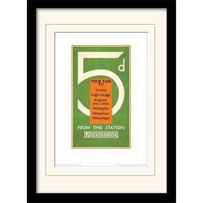 """Art Group London Transport """"13"""" Mounted Framed Vintage Advertisement"""