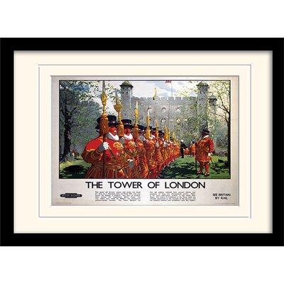 "Art Group London ""2"" Mounted Framed Vintage Advertisement"