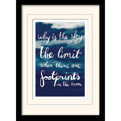 Art Group Why Is the Sky the Limit Framed Typography