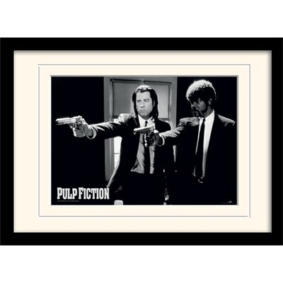 Art Group Pulp Fiction Guns Mounted Framed Photographic Print