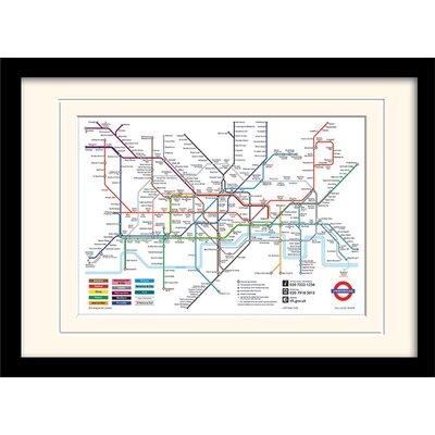 Art Group London Underground Map Mounted Framed Graphic Art