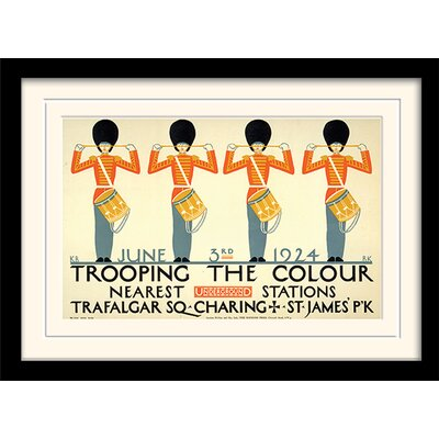"""Art Group London Transport """"2"""" Mounted Framed Vintage Advertisement"""