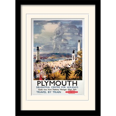 "Art Group Plymouth ""1"" Mounted Framed Vintage Advertisement"