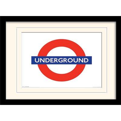 Art Group London Underground Mounted Framed Graphic Art