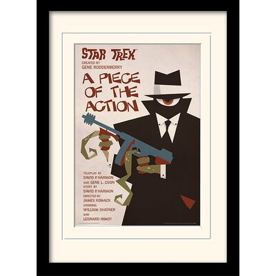 Art Group A Piece of The Action by Star Trek Mounted Framed Vintage Advertisement