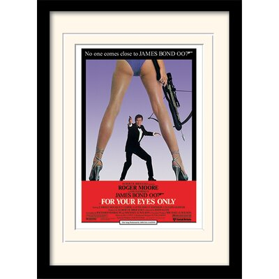 "Art Group James Bond ""For Your Eyes Only One-Sheet"" Framed Vintage Advertisement"