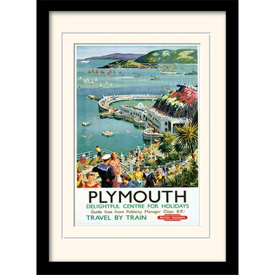 """Art Group Plymouth """"2"""" Mounted Framed Vintage Advertisement"""