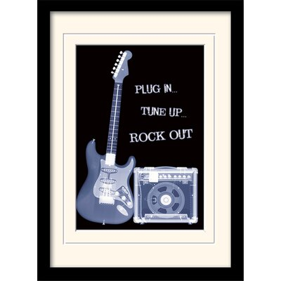 Art Group Rock Out Mounted Framed Graphic Art