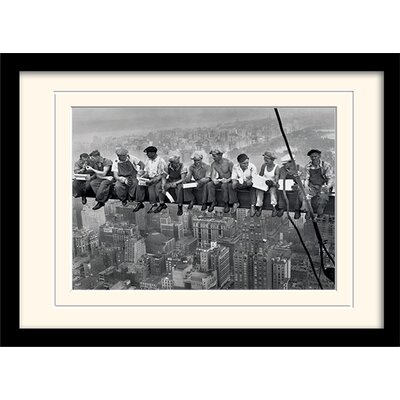Art Group Lunch on a Skyscraper Mounted Framed Photographic print