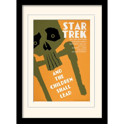 Art Group The Children Shall Lead by Star Trek Mounted Framed Vintage Advertisement