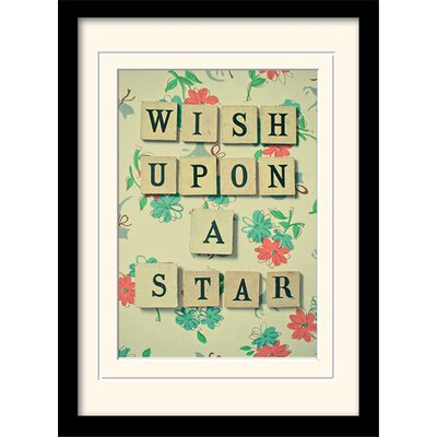 Art Group Wish Upon a Star by Cassia Beck Framed Typography
