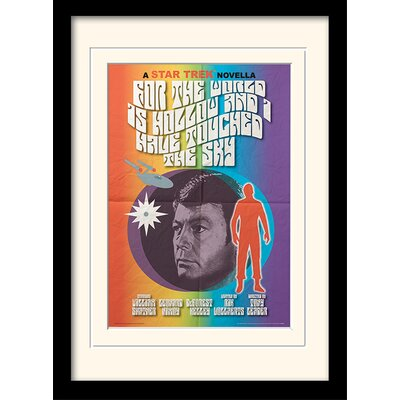 Art Group For The World Is Hollow And I Have Touched The Sky by Star Trek Mounted Framed Vintage Advertisement