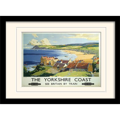 Art Group The Yorkshire Coast Framed Vintage Advertisement