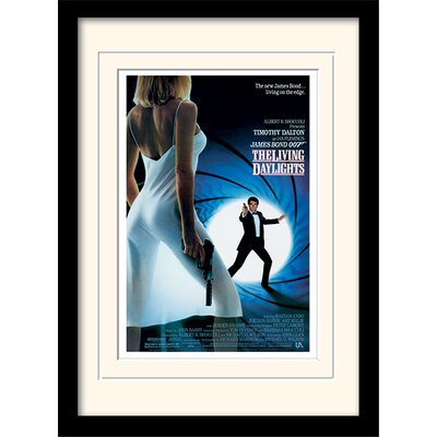 "Art Group James Bond ""The Living Daylights One-Sheet"" Framed Vintage Advertisement"