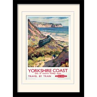 Art Group Yorkshire Coast Framed Vintage Advertisement