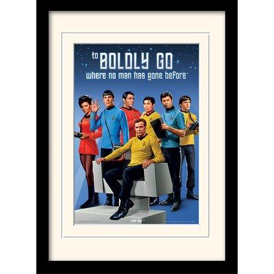 Art Group Boldly Go by Star Trek Mounted Framed Vintage Advertisement