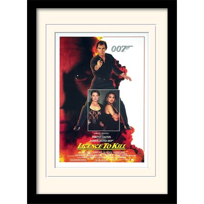 "Art Group James Bond ""License to Kill One-Sheet"" Framed Vintage Advertisement"