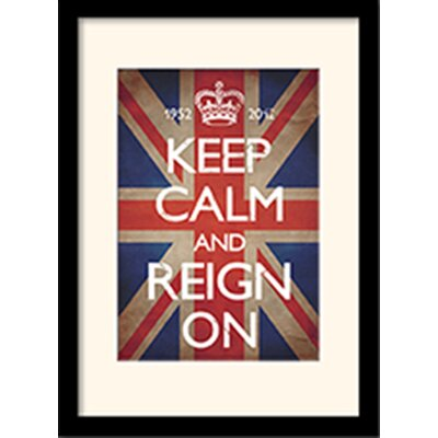 Art Group Keep Calm and Reign Framed Typography