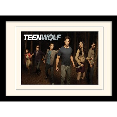 Art Group Teen Wolf Woods Mounted Framed Vintage Advertisement