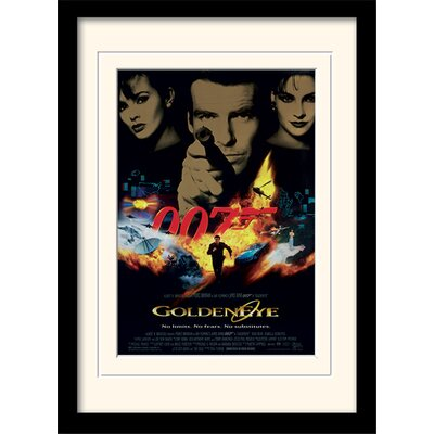 "Art Group James Bond ""Goldeneye One-Sheet"" Framed Vintage Advertisement"
